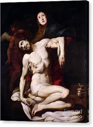The Pieta Canvas Print by Daniele Crespi