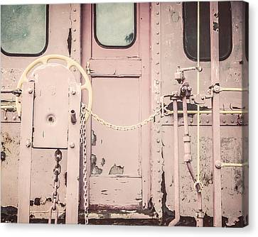 The Pink Caboose Canvas Print by Lisa Russo
