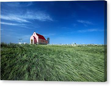 The Pink Church Canvas Print by Todd Klassy