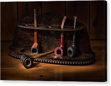 The Pipe Rack Canvas Print by Ann Garrett