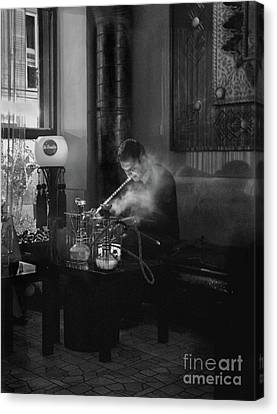 The Pipe Smoker Canvas Print by Louise Fahy