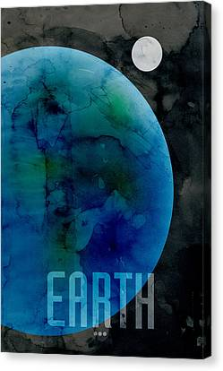 The Planet Earth Canvas Print by Michael Tompsett