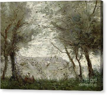 The Pond Canvas Print by Jean Baptiste Corot