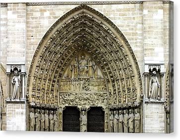 The Portal Of The Last Judgement Of Notre Dame De Paris Canvas Print by Fabrizio Troiani