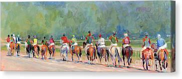 The Post Parade Canvas Print by Kimberly Santini