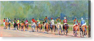 The Post Parade Canvas Print by Kimberly Santini