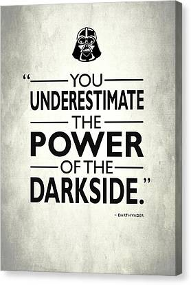The Power Of The Darkside Canvas Print by Mark Rogan