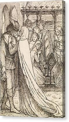 The Prince's Progress Canvas Print by Dante Gabriel Rossetti