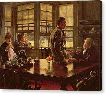 The Prodigal Son In Modern Life  The Departure Canvas Print by James Jacques Joseph Tissot