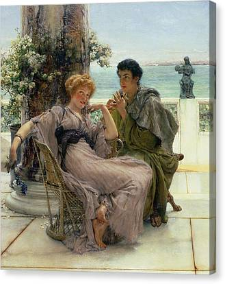 The Proposal Canvas Print by Sir Lawrence Alma Tadema