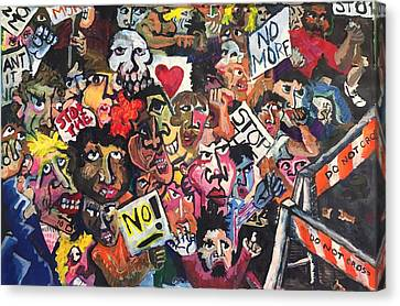 The Protest  Canvas Print by Jame Hayes
