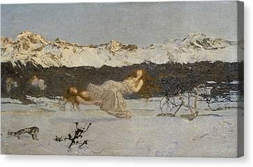The Punishment Of Lust  Canvas Print by Giovanni Segantini