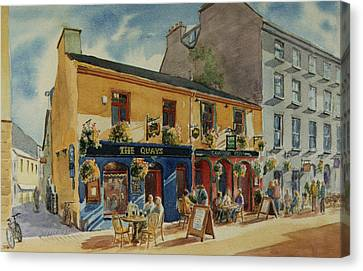 The Quays Pub Galway Canvas Print by Tomas OMaoldomhnaigh