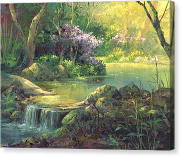 The Quiet Creek Canvas Print by Michael Humphries