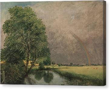 The Rainbow Near Salisbury Canvas Print by Mountain Dreams