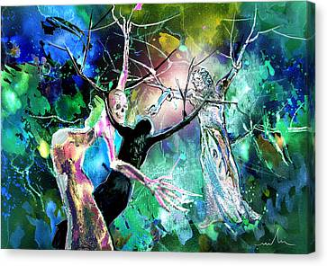 The Raising Of Lazarus Canvas Print by Miki De Goodaboom