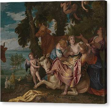 The Rape Of Europa Canvas Print by Paolo Veronese