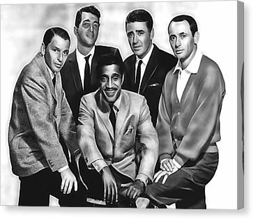 The Rat Pack Canvas Print by Marvin Blaine