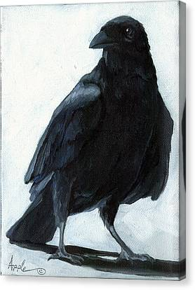The Raven Canvas Print by Linda Apple