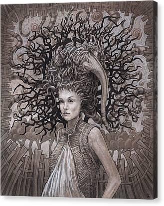 The Ravenous Pregnancy Canvas Print by Ethan Harris