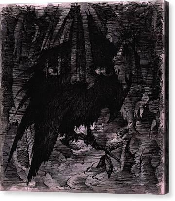 The Raven's Dream Canvas Print by Rachel Christine Nowicki