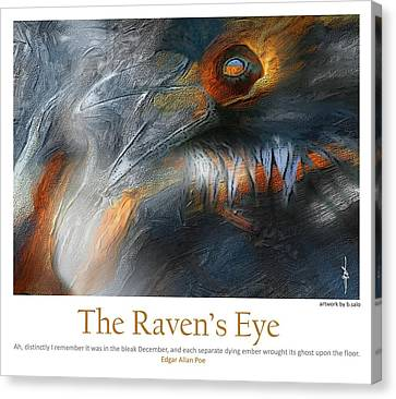 The Raven's Eye Canvas Print by Bob Salo