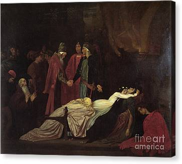 The Reconciliation Of The Montagues Canvas Print by MotionAge Designs