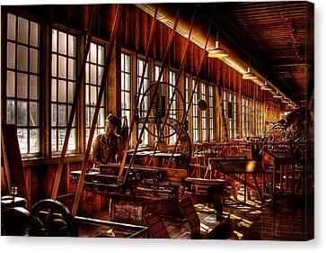 The Red Barn Of The Boeing Company Iv Canvas Print by David Patterson