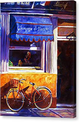 The Red Bicycle Canvas Print by David Lloyd Glover