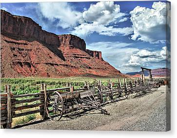 The Red Cliffs Canvas Print by Gregory Ballos