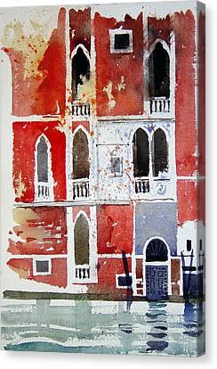 The Red House  Venice Canvas Print by Simon Fletcher