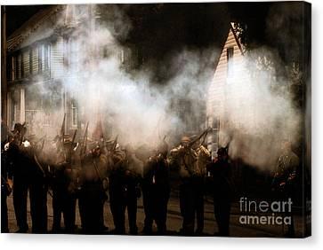 The Reenactors - Battle For Funkstown  Canvas Print by Steven  Digman