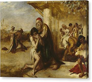 The Repentant Prodigal's Return To His Father Canvas Print by William Etty