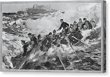 The Rescue Of The Princess Royal And Canvas Print by Vintage Design Pics