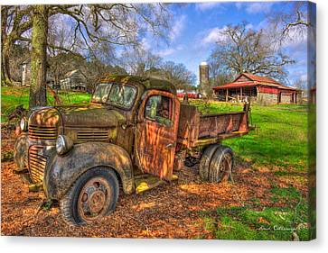 The Resting Place 2 Boswell Farm 1947 Dodge Dump Truck Canvas Print by Reid Callaway