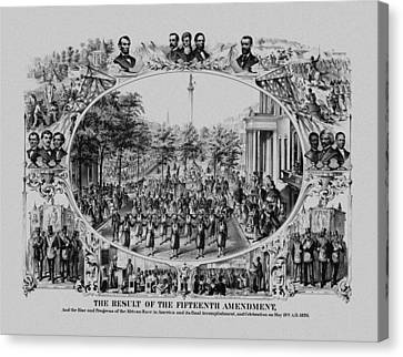 The Result Of The Fifteenth Amendment Canvas Print by War Is Hell Store