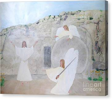 The Resurrection Canvas Print by Karen Jane Jones