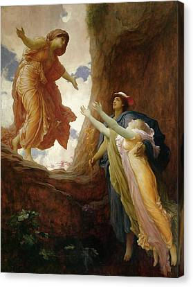 The Return Of Persephone Canvas Print by Frederic Leighton