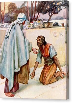 The Return Of The Prodigal Son Canvas Print by Arthur A Dixon