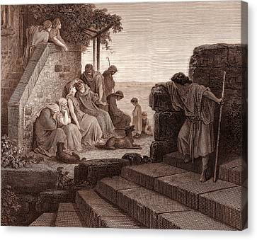 The Return Of The Prodigal Son Canvas Print by Gustave Dore