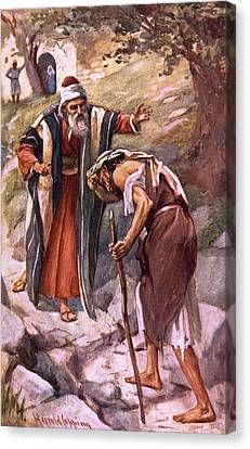 The Return Of The Prodigal Son Canvas Print by Harold Copping