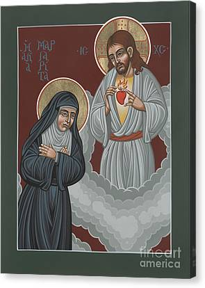 St Margaret Mary And The Sacred Heart 238 Canvas Print by William Hart McNichols
