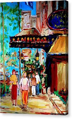 The Ritz Carlton In Spring Canvas Print by Carole Spandau