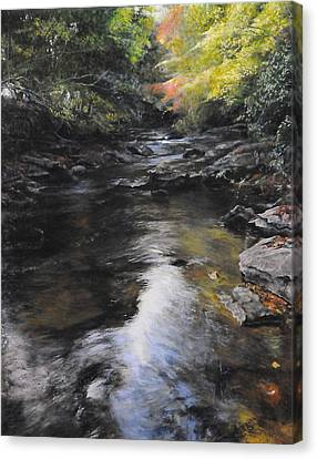 The River At Lady Bagots Canvas Print by Harry Robertson