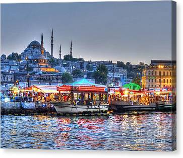The Riverboats Of Istanbul Canvas Print by Michael Garyet