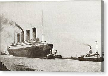 The Rms Titanic Of The White Star Line Canvas Print by Vintage Design Pics