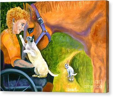 The Road Ahead Canvas Print by Susan A Becker