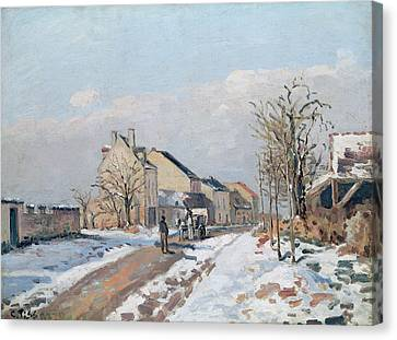 The Road From Gisors To Pontoise Canvas Print by Camille Pissarro