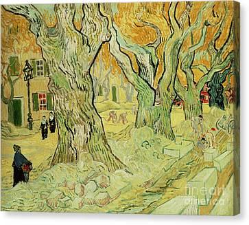The Road Menders Canvas Print by Vincent Van Gogh