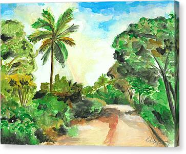 The Road To Tiwi Canvas Print by Katie Sasser